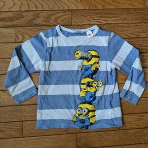 H&M Despicable Me Minion Shirt 2-4 Years